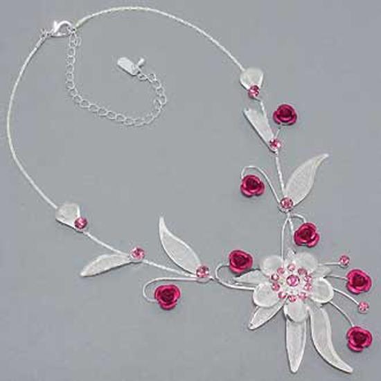 Parure de mariage cristal rouge bijoux ton argent un for Robe pour mariage cette combinaison parure bijoux mariage