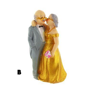Figurine 50 ans de mariage mari s noce d 39 or un jour sp cial - Cadeau 50 ans de mariage noces d or ...