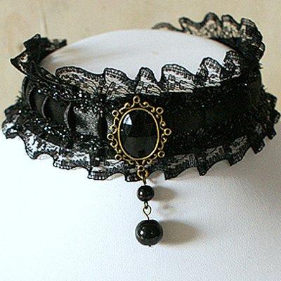 Choker gothique bijoux fantaisie mariage collier pourpre par un j - Accessoires gothiques ...