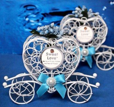 Boîte à Dragées Carrosse Cendrillon Décoration Mariage (Lot de 5 ...