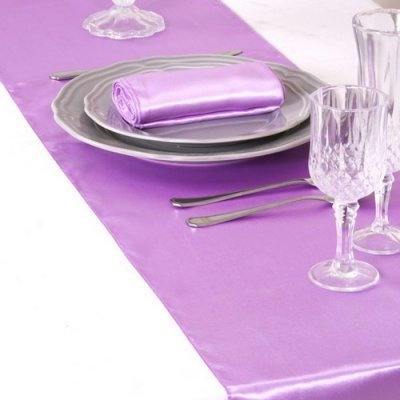 Un jour sp cial accessoires de mariage d coration de - Chemin de table lavande ...