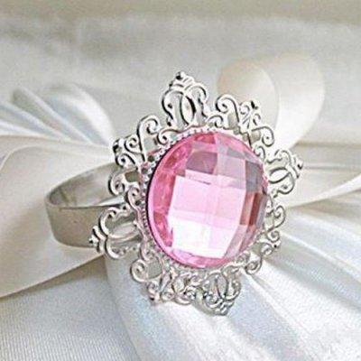 Rond de serviette mariage bague diamant rose fuchsia par Un Jour ...